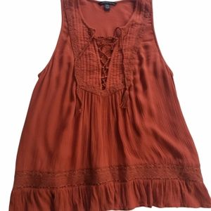 American Eagle Outfitters Copper Tank Top